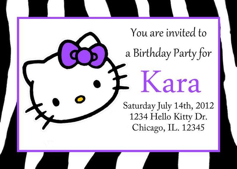 Hello Kitty Birthday Invitations – Custom Hello Kitty Birthday Invitations