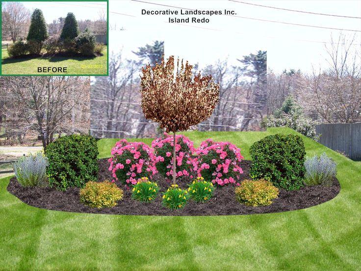 Elegant Front Yard Island Design Front Yard Island Landscape Bed