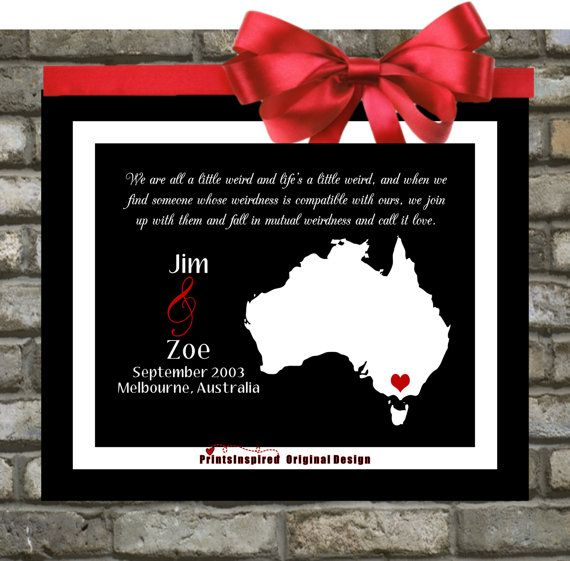 Australian Wedding Anniversary Gifts By Year: Custom Anniversary Gifts For Him He : Personalized