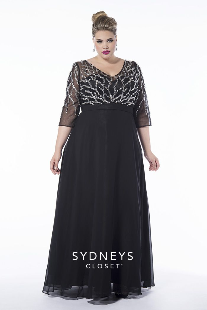 f4b1f40f4b1f You'll look stunning walking down the aisle in this eye-catching chiffon #PlusSize  gown.