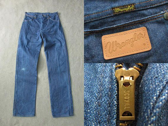 a8d98418 Size 30 | 70s Vintage Wrangler 13MWZ Cowboy Cut Scovill Zipper Heavyweight Denim  Jeans Made in USA