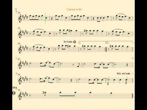 Radioactive Imagine Dragons Clarinet Sheet Music Chords And