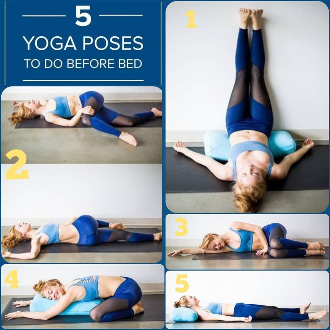 5 Yoga Poses To Do Before Bed Fitabouts Tagsforlikes Photooftheday Happy Love Likeforlike Beautiful Instagood Fashion Nature Yoga Poses Yoga Poses