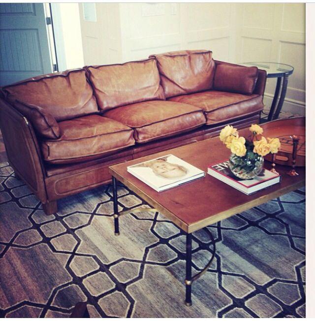 Leather couch Living   Room   Concepts Pinterest Meubles - terre contre mur maison