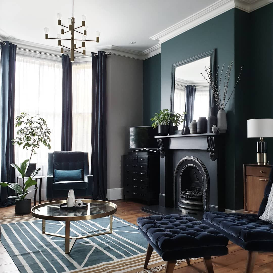 Warning: These Blue Living Room Ideas Will Make You Want to Redecorate Stat   Hunker