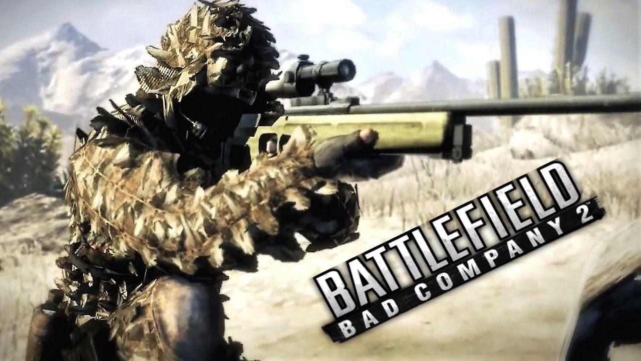 Battlefield Bad Company 2 Sniper Mission Gameplay Battlefield