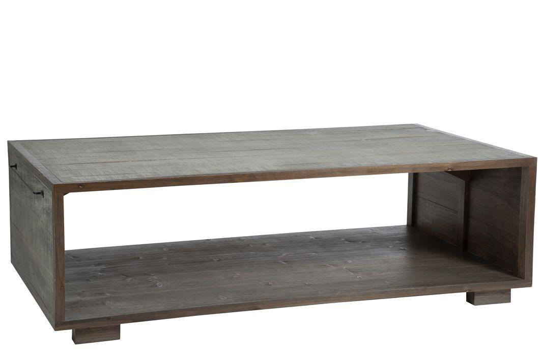 Table Basse En Pin Gris Avec Porte Revue 145x80x35cm Forest Tables Basses House Design Table Et Stool