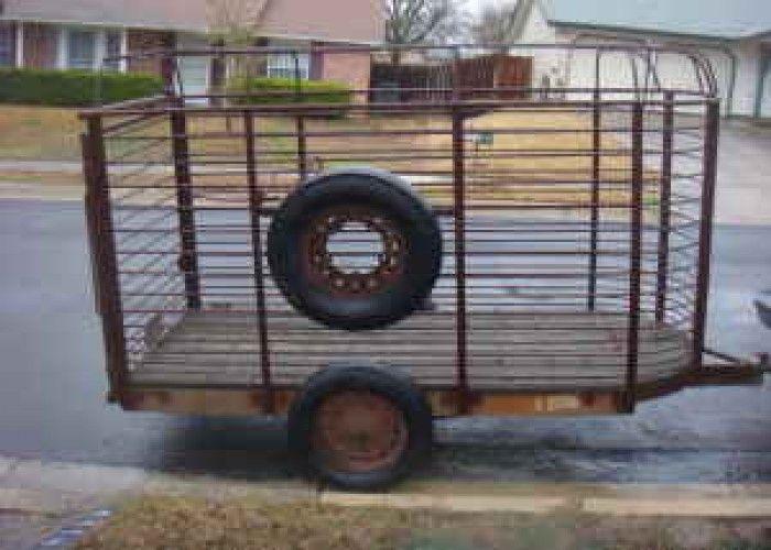 4x9 Small Livestock Trailer 400 Ne Livestock Trailers Trailer Small Pigs