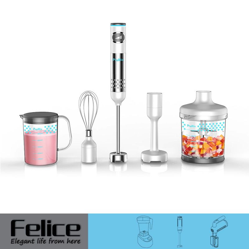 600W Stainless Steel Hand Blender with Attachment