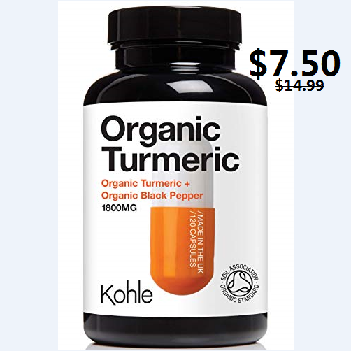 US ONLY, Organic Turmeric Curcumin 7.50. This normally