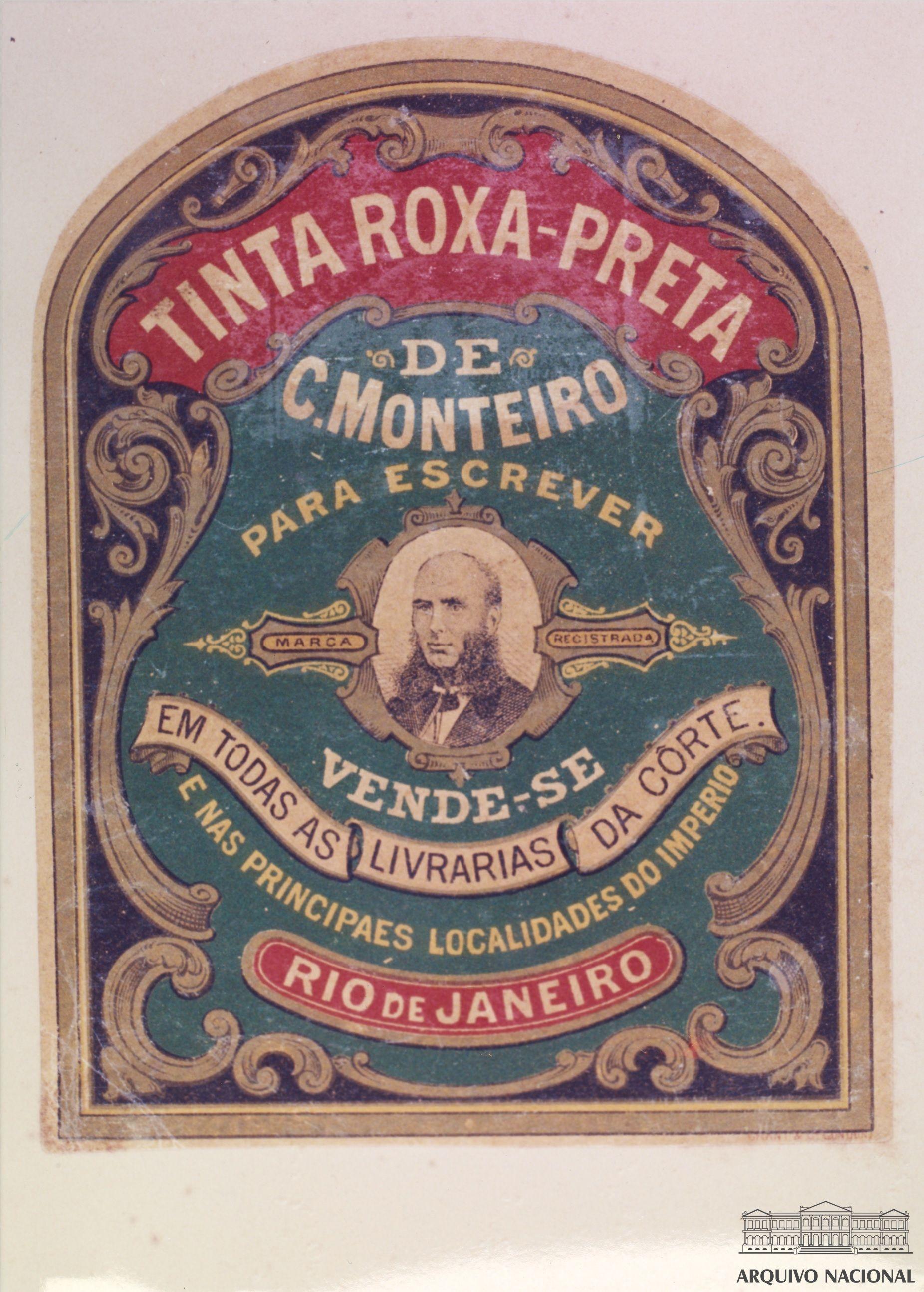 Rotulo De Tinta Roxa Preta Para Escrever Produto Comercializado
