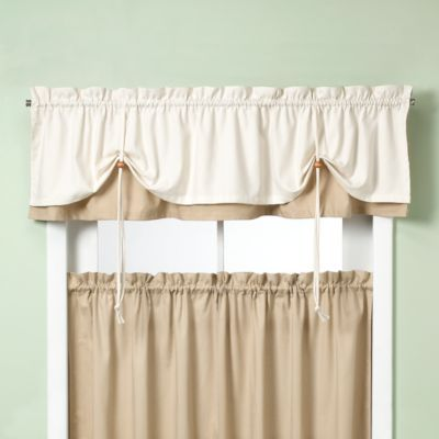 Pairs To Go Cadenza Microfiber Tier & Valance Kitchen Window ...