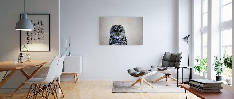 Arredamento soggiorno moderno design con poltrona e quadro ...