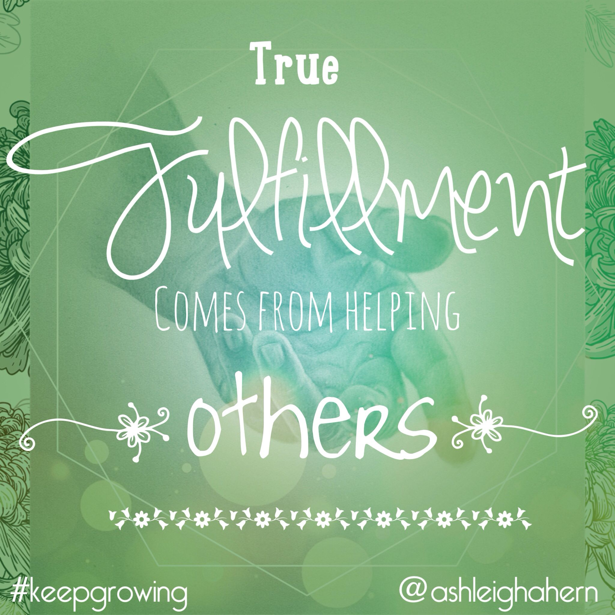 True fulfillment comes from helping others. #leadership #happiness ...