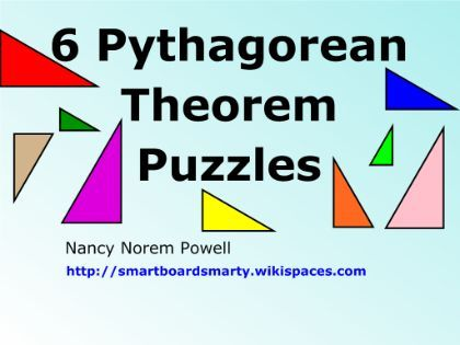 6 Pythagorean Theorem Puzzles to use on your #smartboard Math - pythagorean theorem worksheet