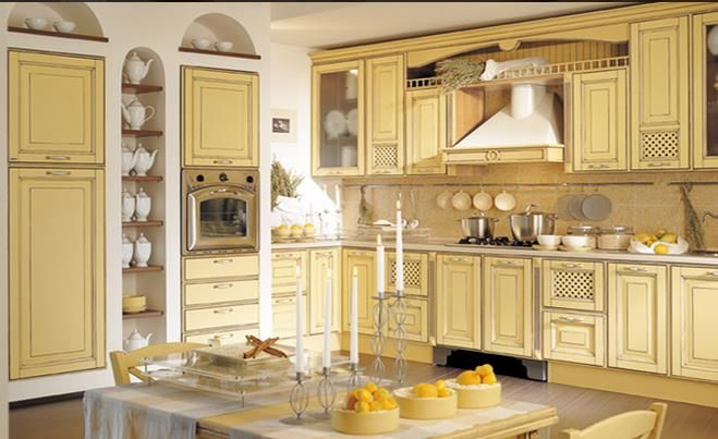 Image of cream kitchen cabinets Comanche Makeover Pinterest