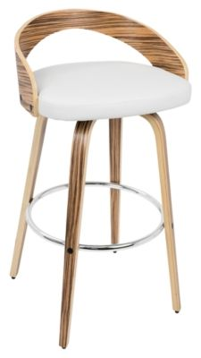 Lumisource Grotto Bar Stool Set Of 2 By Ashley Homestore White