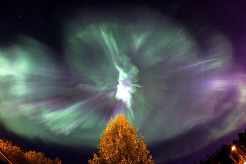 Amazing image of auroral phenomena in Finland, Photo courtesy of Niko Suo-Heikki