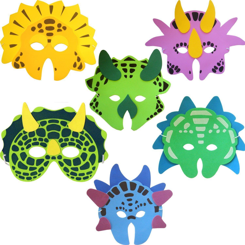 Dinosaurs Printable Masks, dinosaur mask, trex mask, triceratops ...