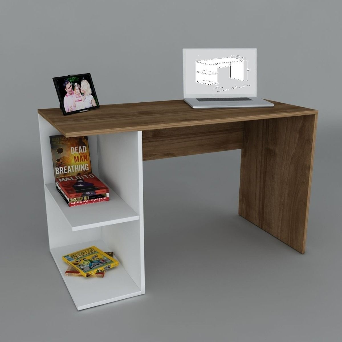 Escritorio melamina moderno oficina mesa pc notebook for Escritorio oficina