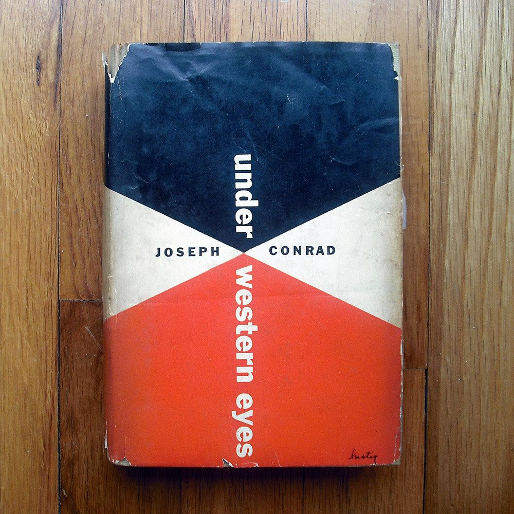 "Alvin Lustig book jacket design, 1951. ""Under Western Eyes"" by Joseph Conrad.. $120.00, via Etsy."