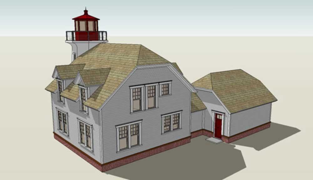 Light House Image For Plan 116 1073 Beach House Floor Plans Coastal House Plans House Plans