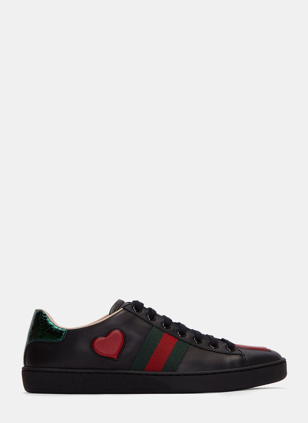 GUCCI Women'S Heart Cushioned Low-Top Sneakers In Black. #gucci #shoes #