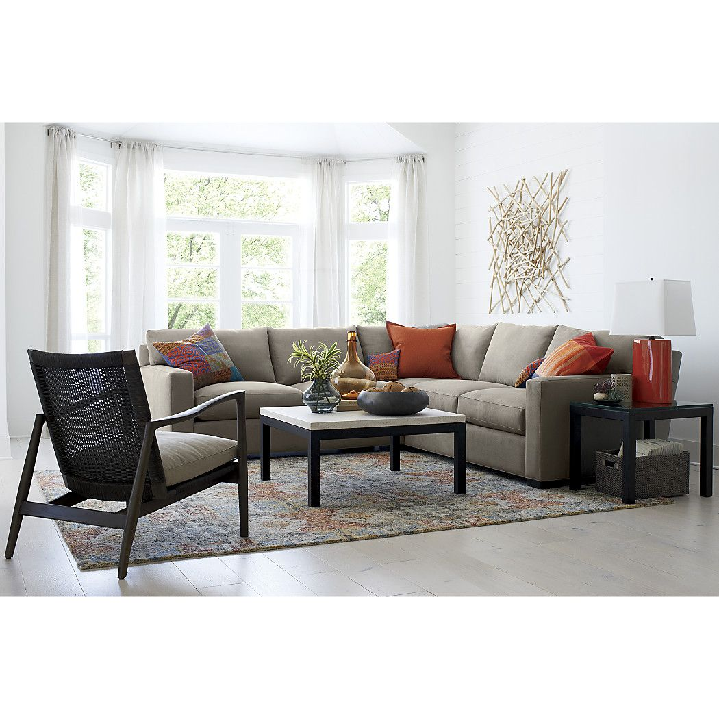 Axis ii 3piece sectional sofa reviews crate and