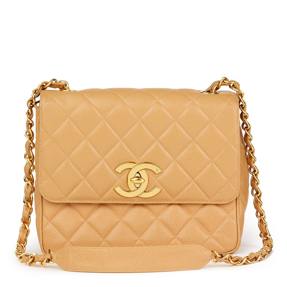 a502a53fa95e This is a pre-owned Chanel XL Classic Single Flap Bag in Caviar Leather  complemented by Gold (24K Plated) hardware - HB1809. Free next day delivery.