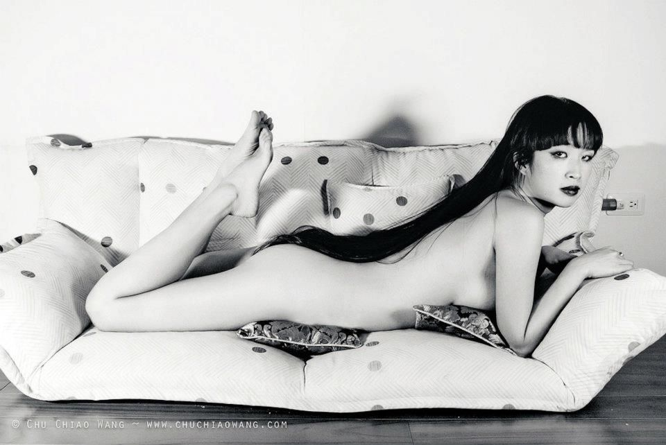 """Shot of Taiwanese actress and model CC Wang, to be included in her soon to be published photo-book entitled """"I'm Too Sexy""""."""