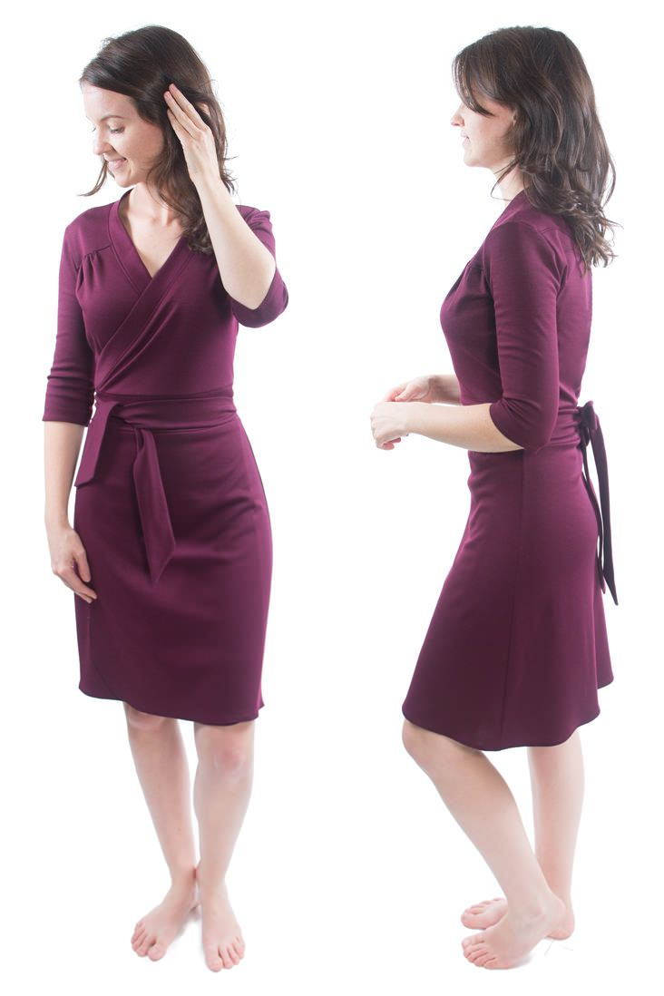 How We Wear It The Gillian Wrap Dress By Muse Patterns