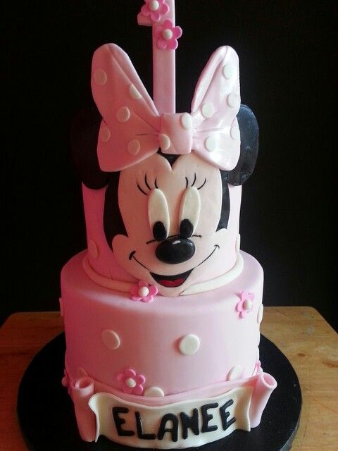 Minnie mouse 1st birthday cake cakes Pinterest Minnie mouse