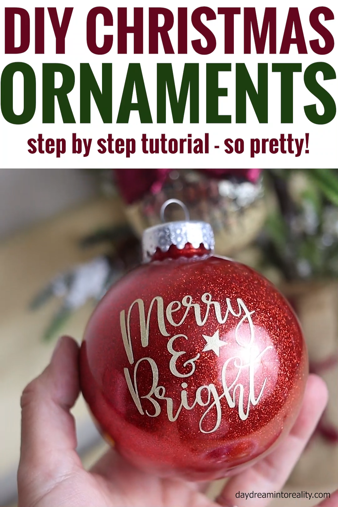 Diy Christmas Ornaments With Cricut Glitter Paint More Video Video Christmas Diy Cricut Christmas Ideas Christmas Ornaments