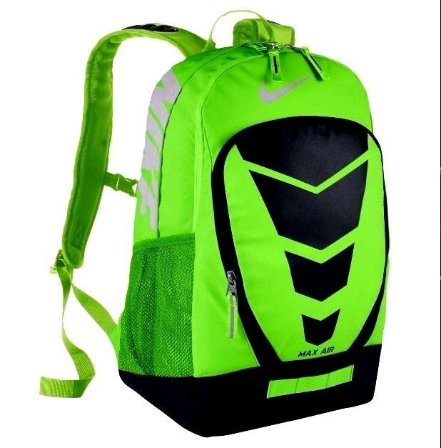 nike max air vapor backpack mystic green\/fierce green\/silver bedding
