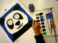 Tierportraits auf Pizzakarton | Kunst im Schulhaus Rosenau