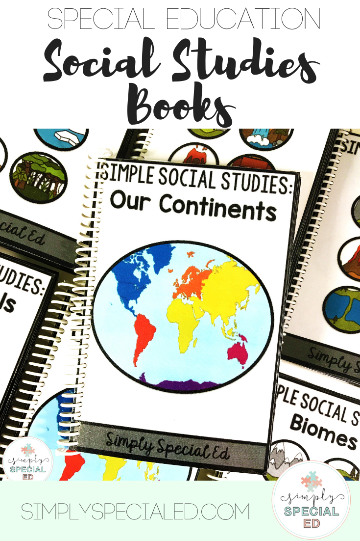 Geography Adapted Books For Special Education Special Education Social Studies Middle School Special Education