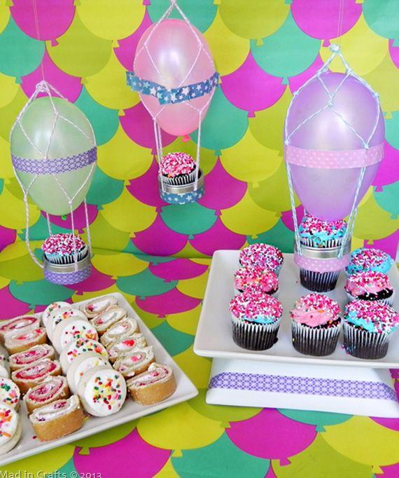 cupcakes en globo en decoracin y detalles para fiestas de bebes nios y adultos