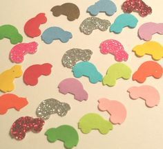 Mini buggies volkswagen beetle 70s 60s confetti for birthday party favor table decor scatter invitations graduation gift Choose colors!
