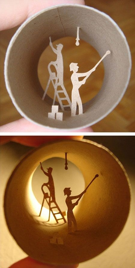 DIY Cool Things Made From Toilet Paper Rolls