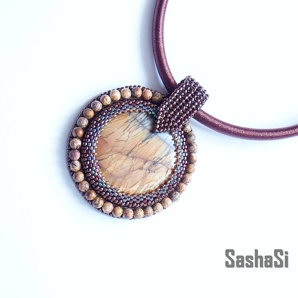 jasper necklace by SashaSi
