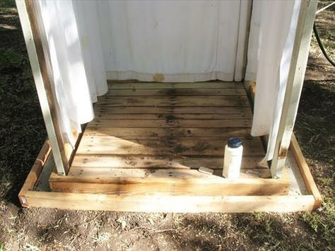 Dusche selber bauen coole DIY Gartendusche aus