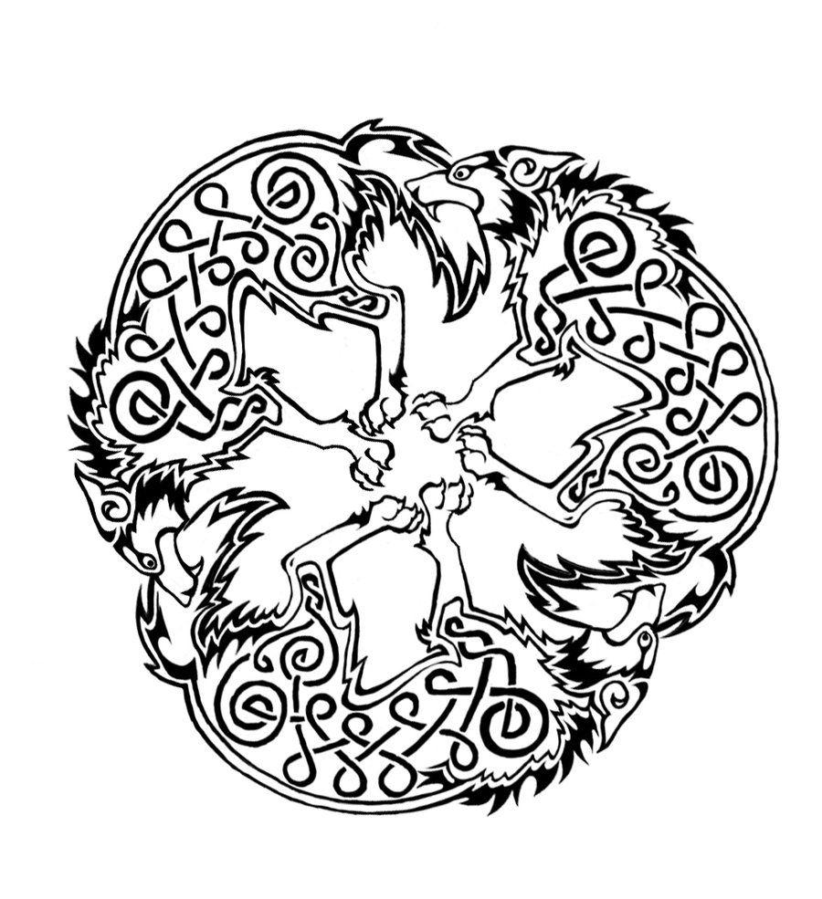 Celtic wolf triskele by dawbuniantart art i like celtic wolf triskele by dawbuniantart buycottarizona Images