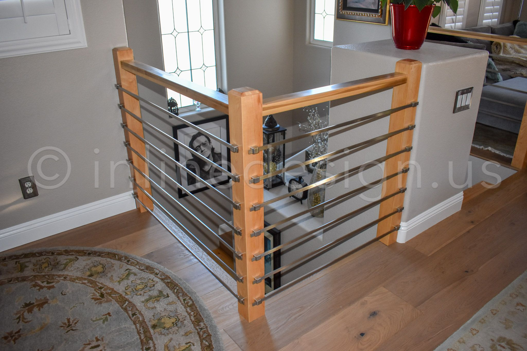 Bart - CA - Modern Stainless Steel Cable and Glass Railing ...
