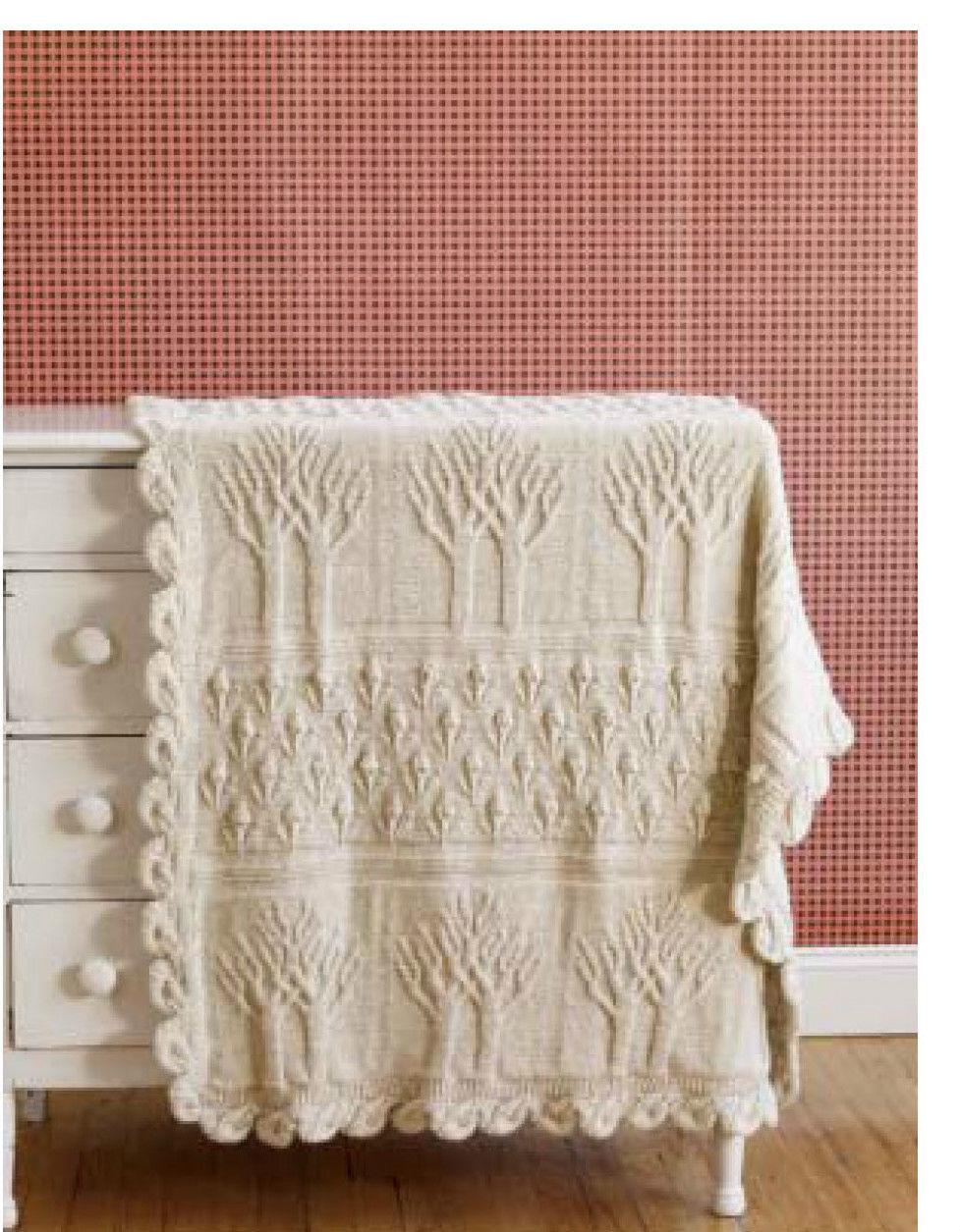 0.99 GBP - Tree Afghan Throw Knitting Pattern 99P #ebay #Home ...