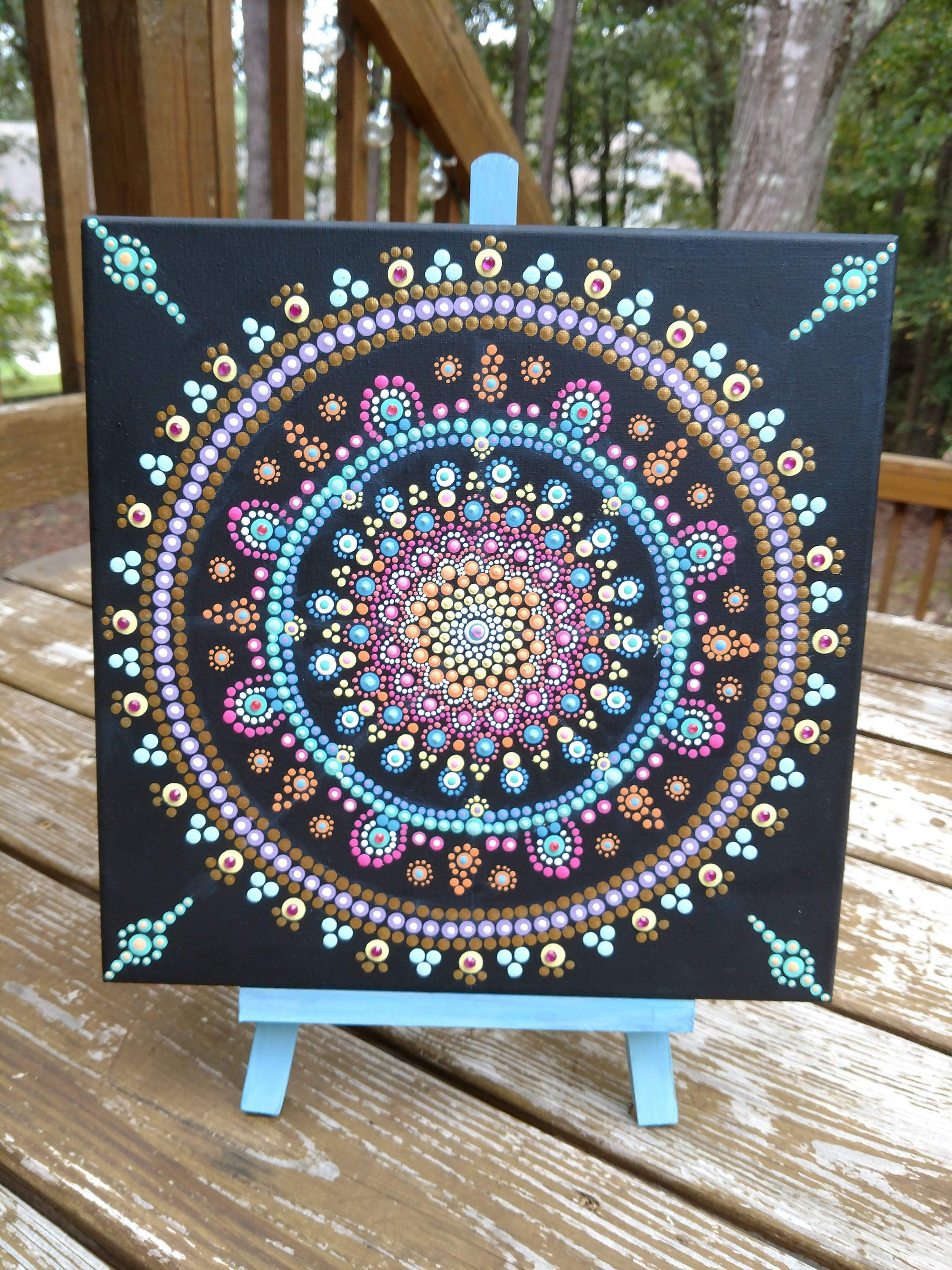 Dot Mandala Gold Green And Blue Valentine S Day Wall