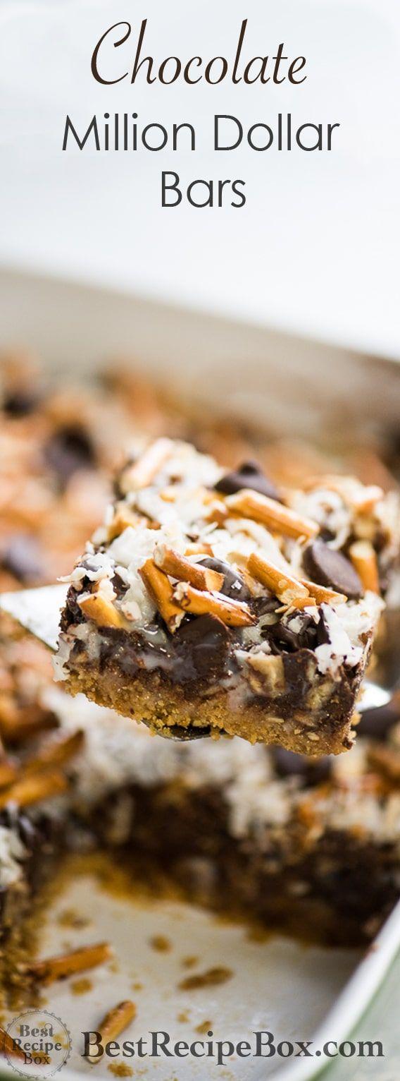 Dark chocolate million dollar bars | Recipe | Easy ...