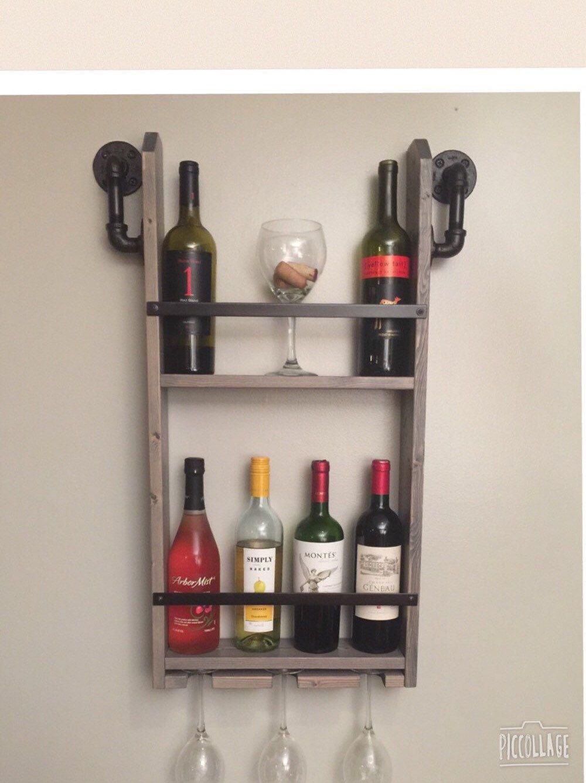 industrial wine rack, wood wine rack, hanging wine rack, storage racks, rustic wine rack, wine storage rack, wooden wine racks by countrycornergoods on Etsy https://www.etsy.com/listing/262194073/industrial-wine-rack-wood-wine-rack