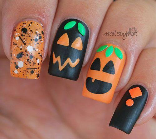 halloween pumpkin nail art | 20 Halloween Pumpkin Nail Art Designs Ideas  Trends Stickers 2015 181 - Halloween Pumpkin Nail Art 20 Halloween Pumpkin Nail Art Designs