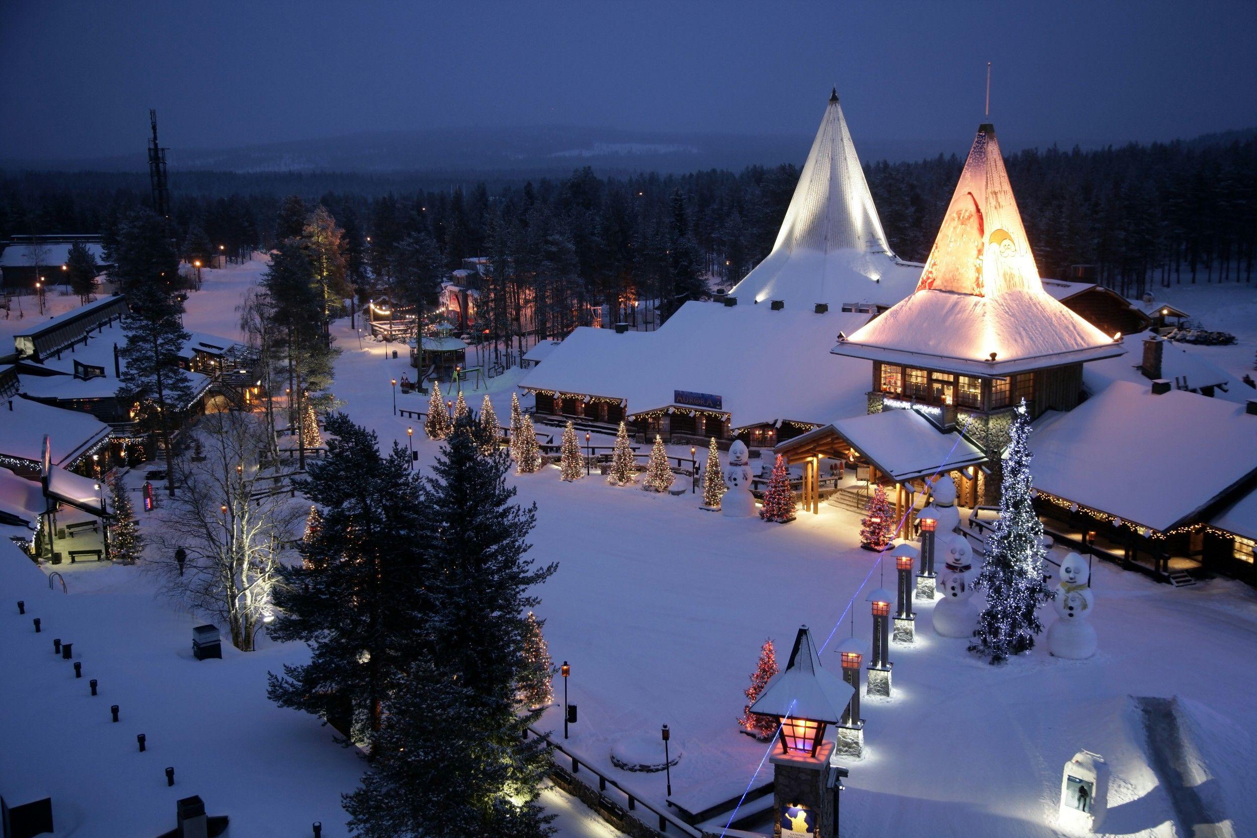 Village du père noël en Laponie | Village du pere noel, Pays du
