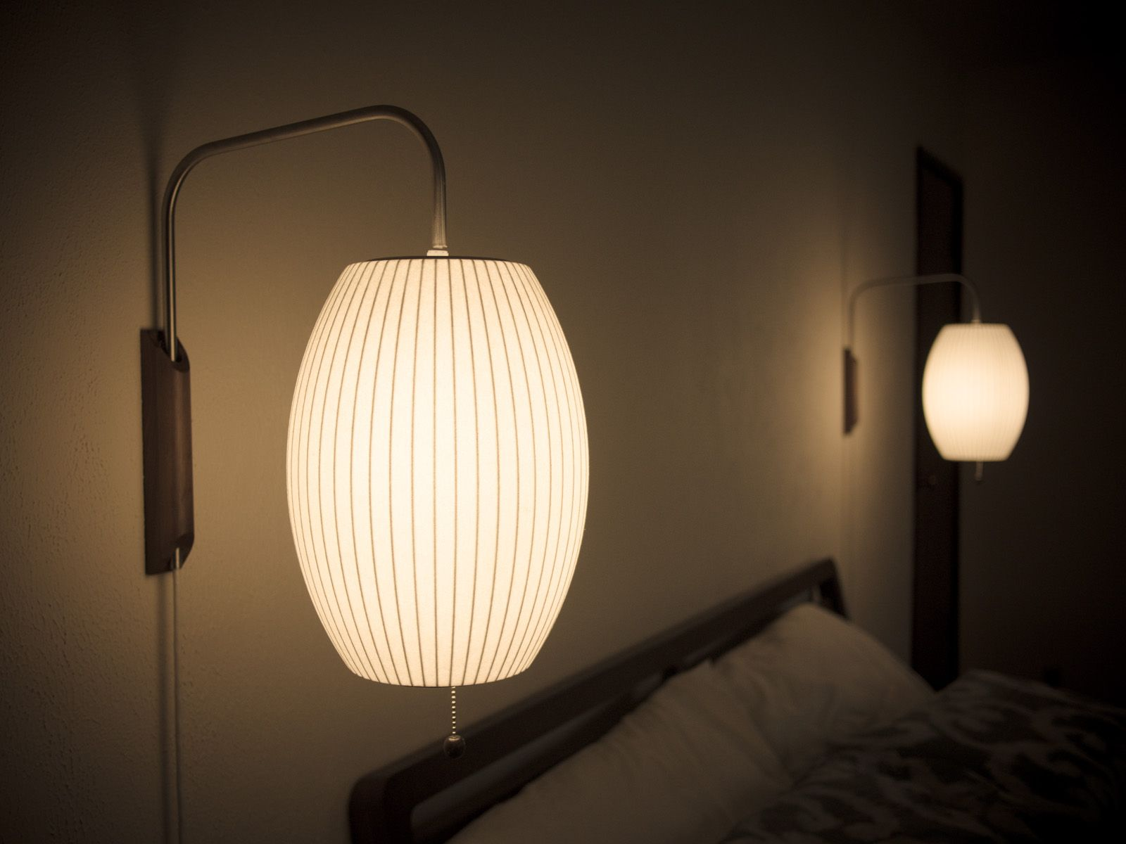 George Nelson Bubble Cigar Sconce In Our Bedroom Nice I